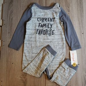 **5 for $15**NEW Baby Boy Body Suit 18 Months Grey